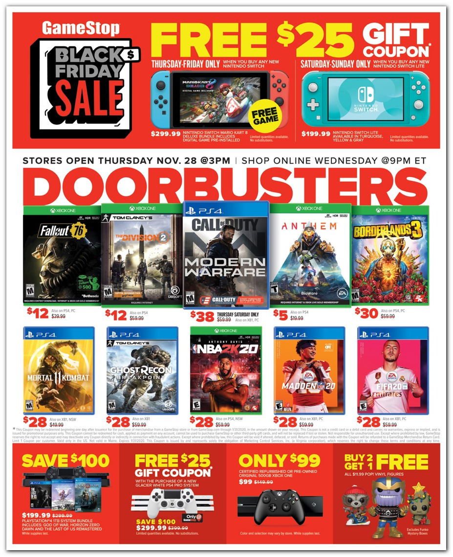 Game Stop Black Friday page 1