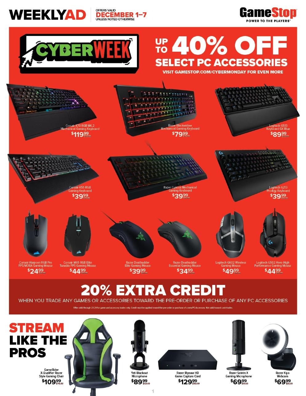 Game Stop Cyber Monday page 1
